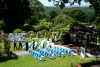 View of outdoor set up for wedding at Lavender House hotel, Ashburton, Devon