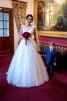 Bride in reception at Bedford Hotel, Tavistock, Devon