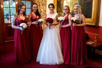 Bride andBridesmaids in reception at Bedford Hotel, Tavistock, Devon