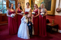 Bride and bridal party in reception at Bedford Hotel, Tavistock, Devon