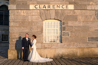 Alex and Camilla at St Paul's Church, Stonehouse Plymouth and The Royal William Yard, Plymouth.